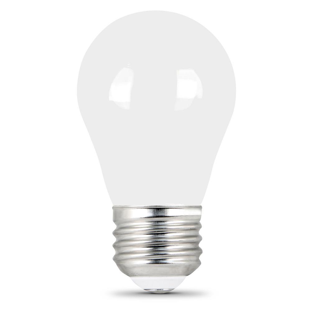 Feit Electric 40-Watt Equivalent Soft White (2700K) A15 Frosted Glass E26 Base Refrigerator LED Light Bulb