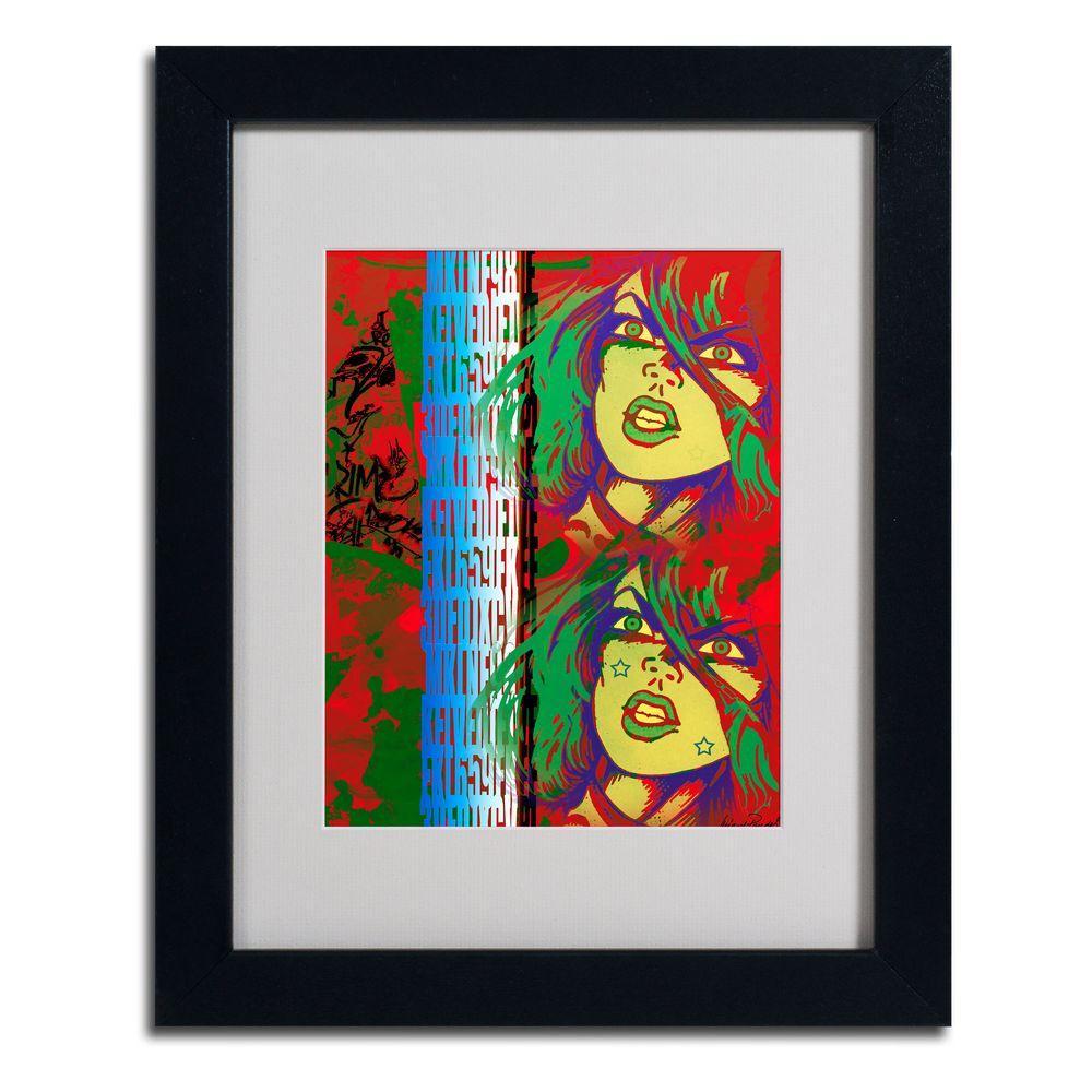 Trademark Fine Art 11 in. x 14 in. Red Matted Framed Art