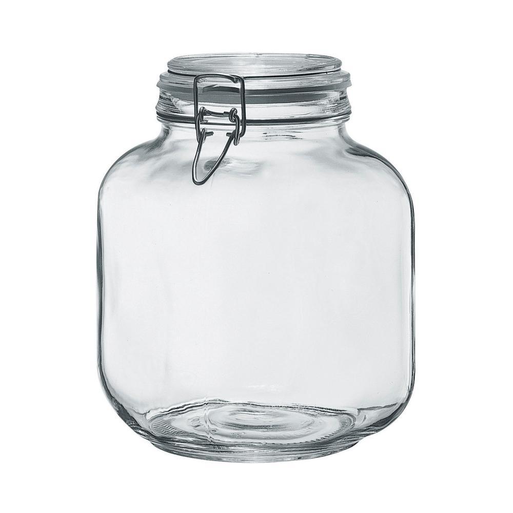 Borgonovo 105 oz.2-Piece Glass Hermetic Canning Jar Set with Metal Lids