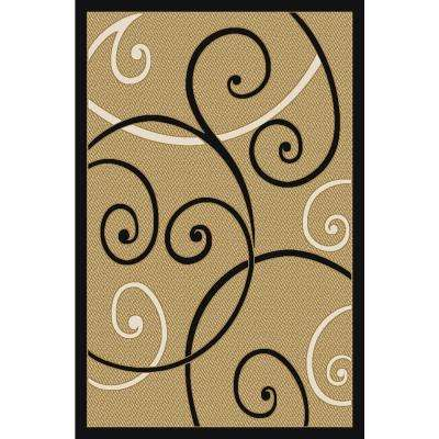 Ephes Collection Ivory 4 ft. 10 in. x 6 ft. 10 in. Area Rug