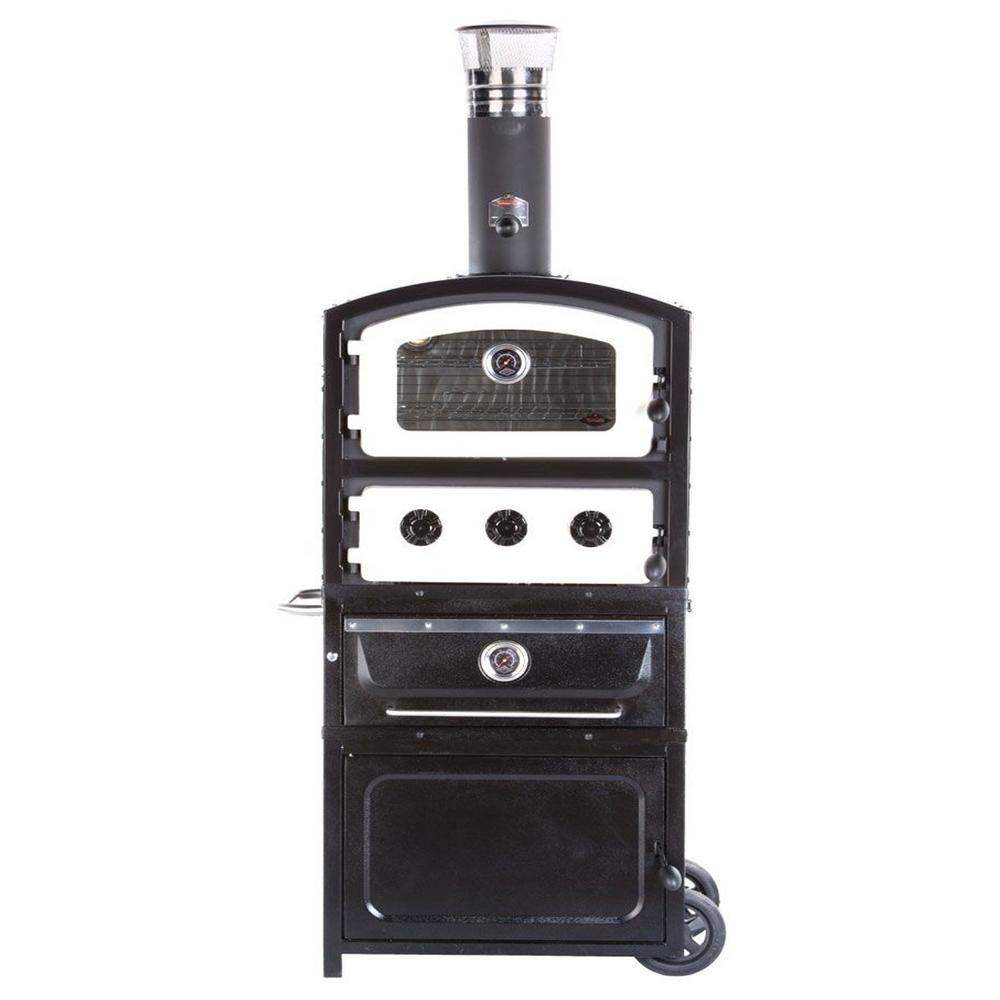 Fornetto Alto Series Wood and Charcoal Fired Oven and Smoker with ...