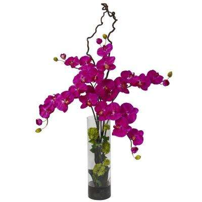 47 in. H Orchid Giant Phalaenopsis and Hydrangea Silk Flower Arrangement