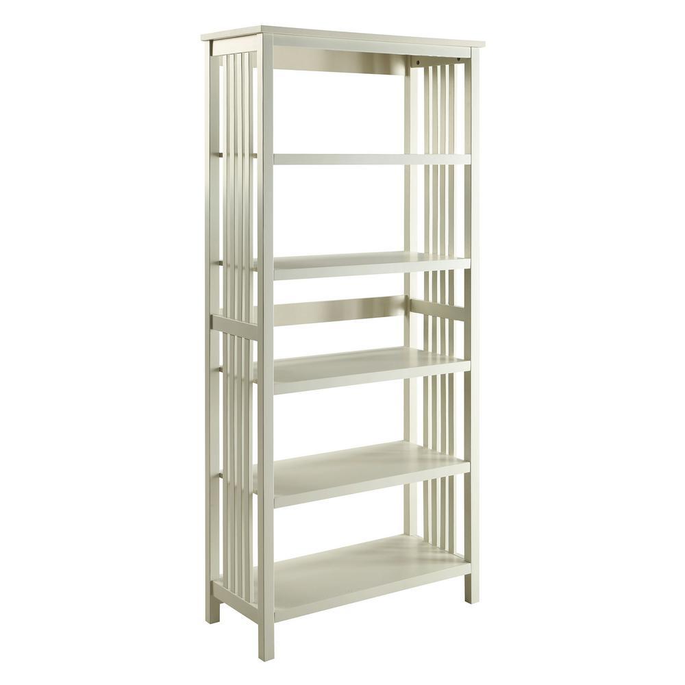 USL Mission White 5 Shelf Bookcase