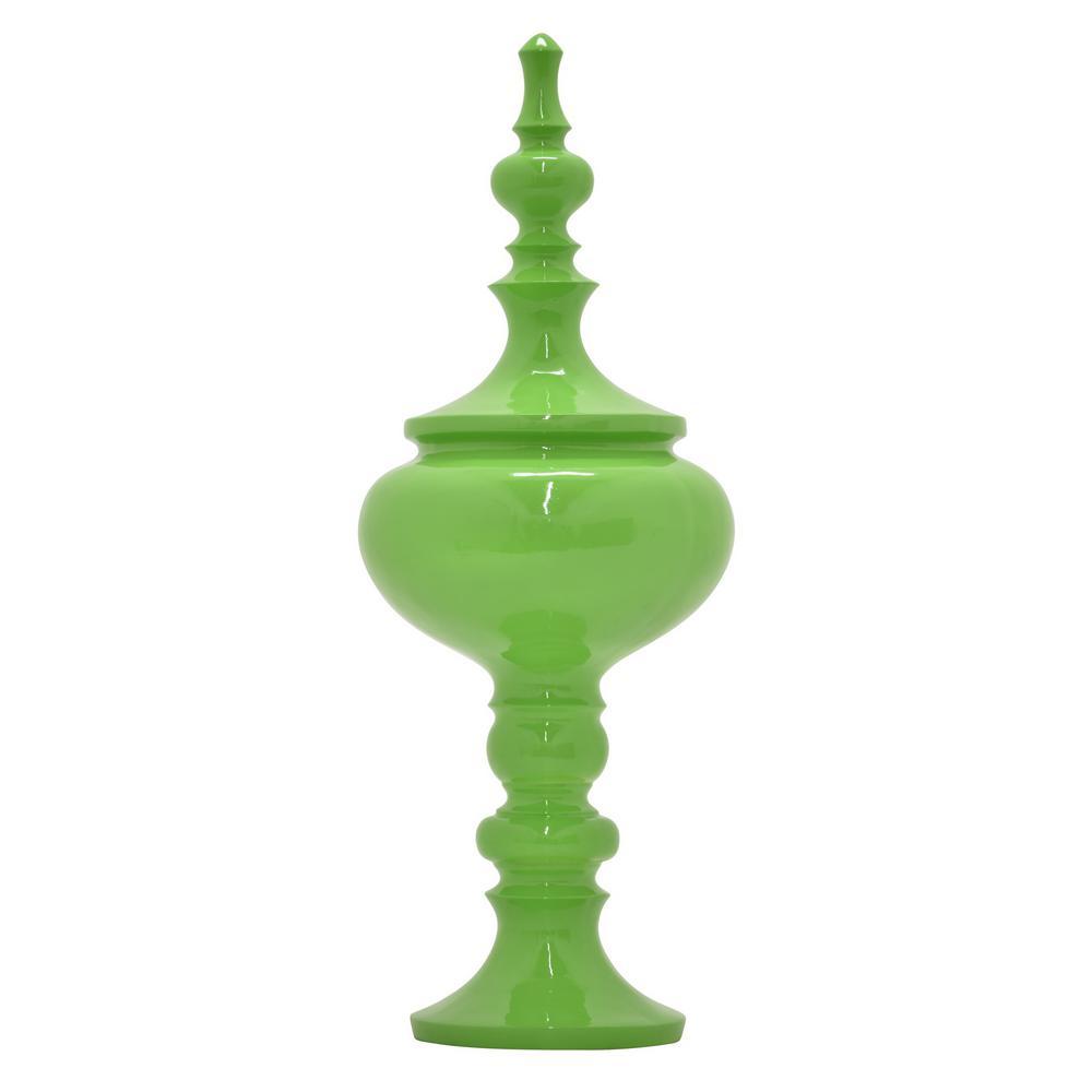 32 in. Finial Tabletop in Green