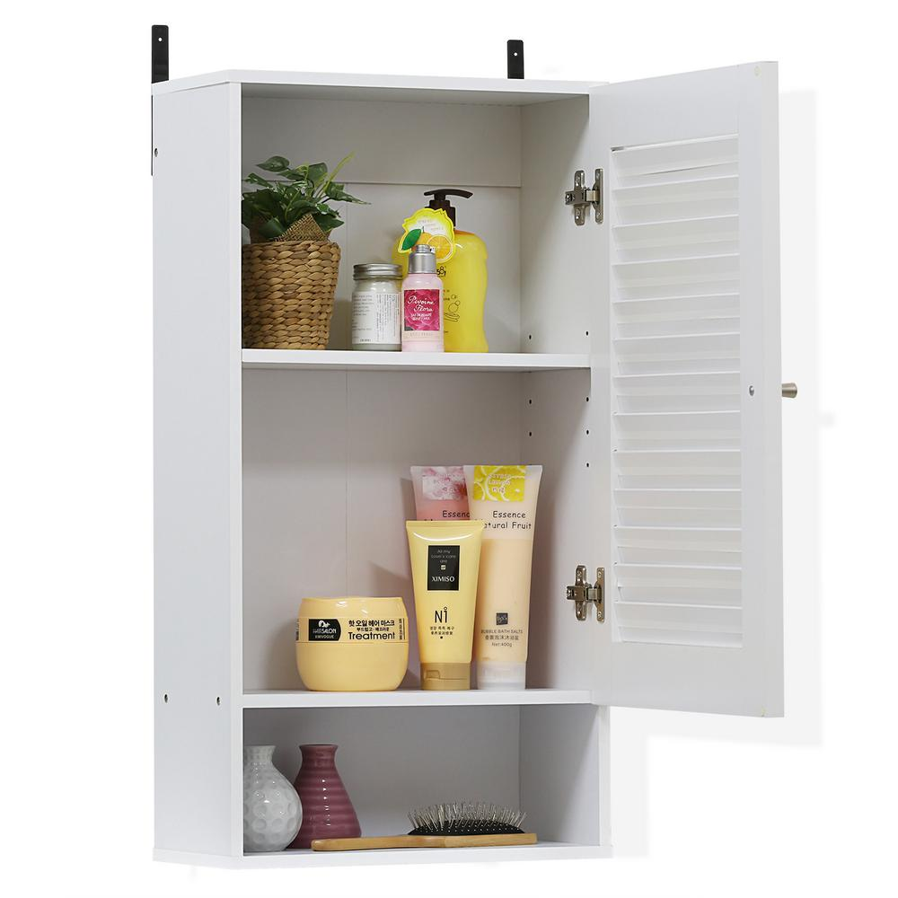 Indo White Wide Wall Cabinet