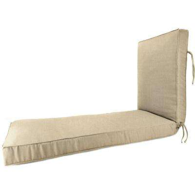 Sunbrella Flax Outdoor Chaise Lounge Cushion
