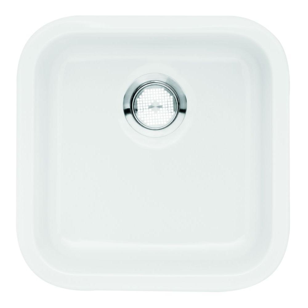 Blanco Cerana Undermount Fireclay 18 88 In Single Bowl Bar Sink White