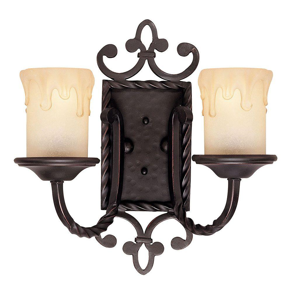 Illumine 2-Light Sconce Slate Finish