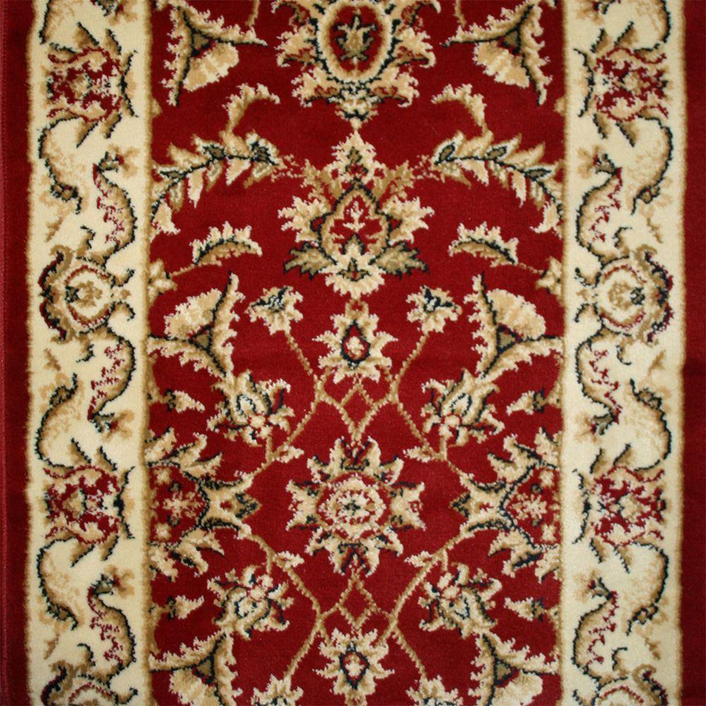 Nance Carpet and Rug Mondo Red 27 in. x 20 ft. Woven Carpet Runner