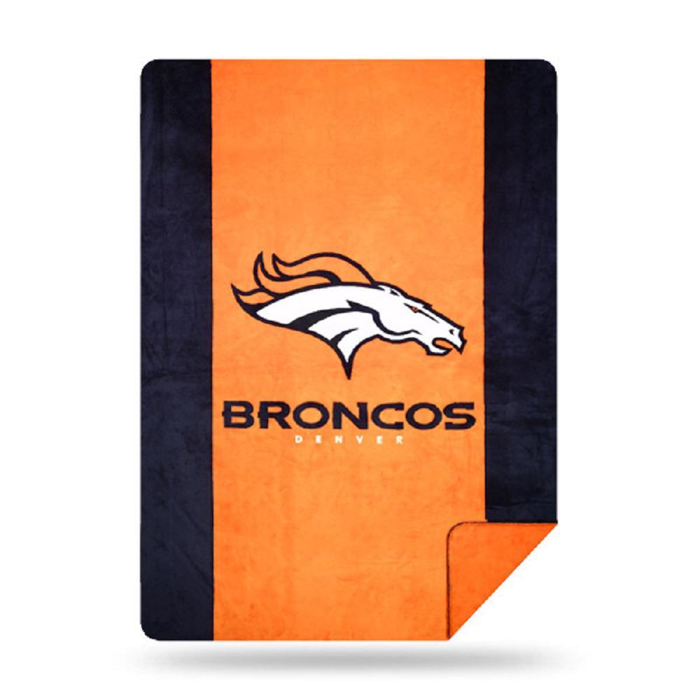 Broncos Multi Color Acrylic Sliver Knit Throw