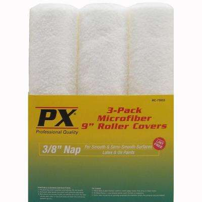 9 in. x 3/8 in. Microfiber Roller Covers (3-Pack)