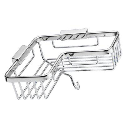 USE 8 in. Corner Basket with Hook in Polished Chrome-DISCONTINUED