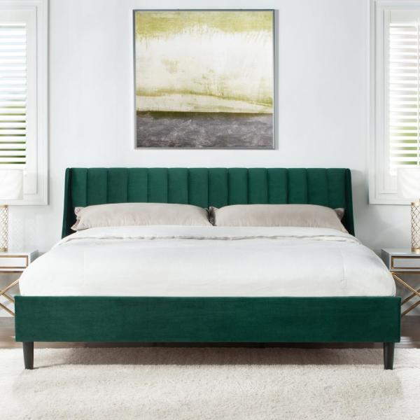 Aspen Evergreen King Upholstered Bed