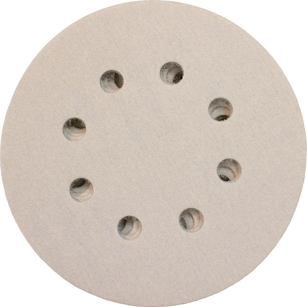 5 in. 320-Grit Hook and Loop Round Abrasive Disc (5-Pack)