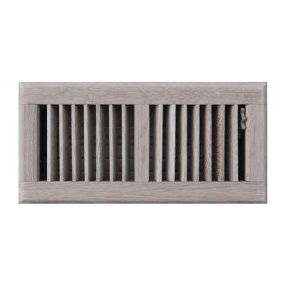 4 in. x 10 in. Oak Floor Register in Unfinished Oak