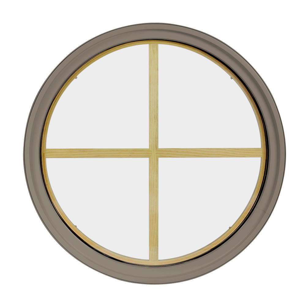Frontline 24 in x 24 in round sandstone 4 9 16 in jamb for 16 x 24 window