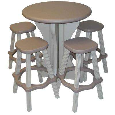 Taupe 5-Piece Patio Bistro Set