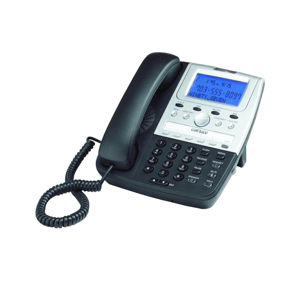 Cortelco Feature Line Corded Telephone with Caller ID - B...