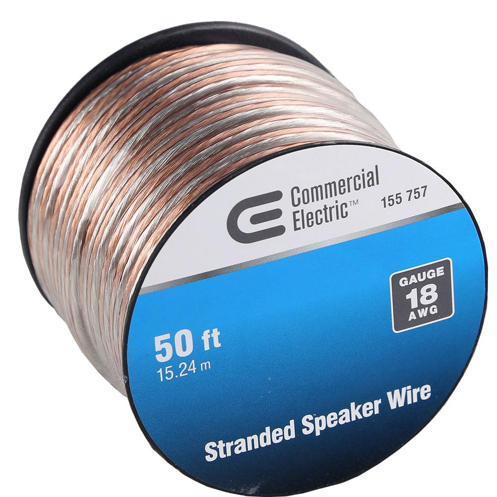 commercial electric 50 ft 18 gauge stranded speaker wire y611393 rh homedepot com