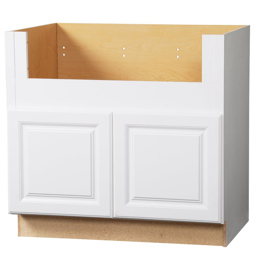 Hampton Bay Hampton Assembled 36x34 5x24 In Farmhouse Apron Front Sink Base Kitchen Cabinet In Satin White