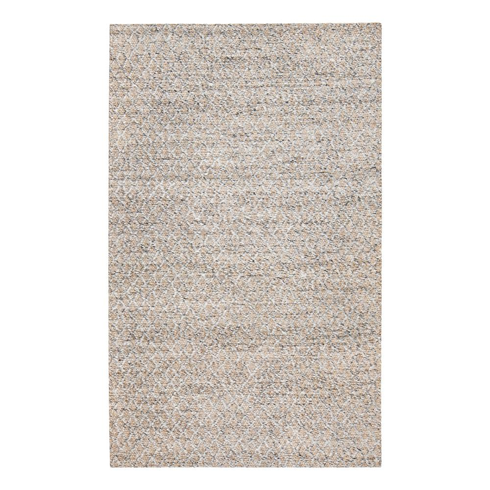 Anji Mountain Sigis Soft Jute And Wool Alternative Gray 5 Ft X 8