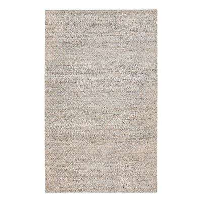 Sigis Soft Jute and Wool-Alternative Gray 5 ft. x 8 ft. Area Rug