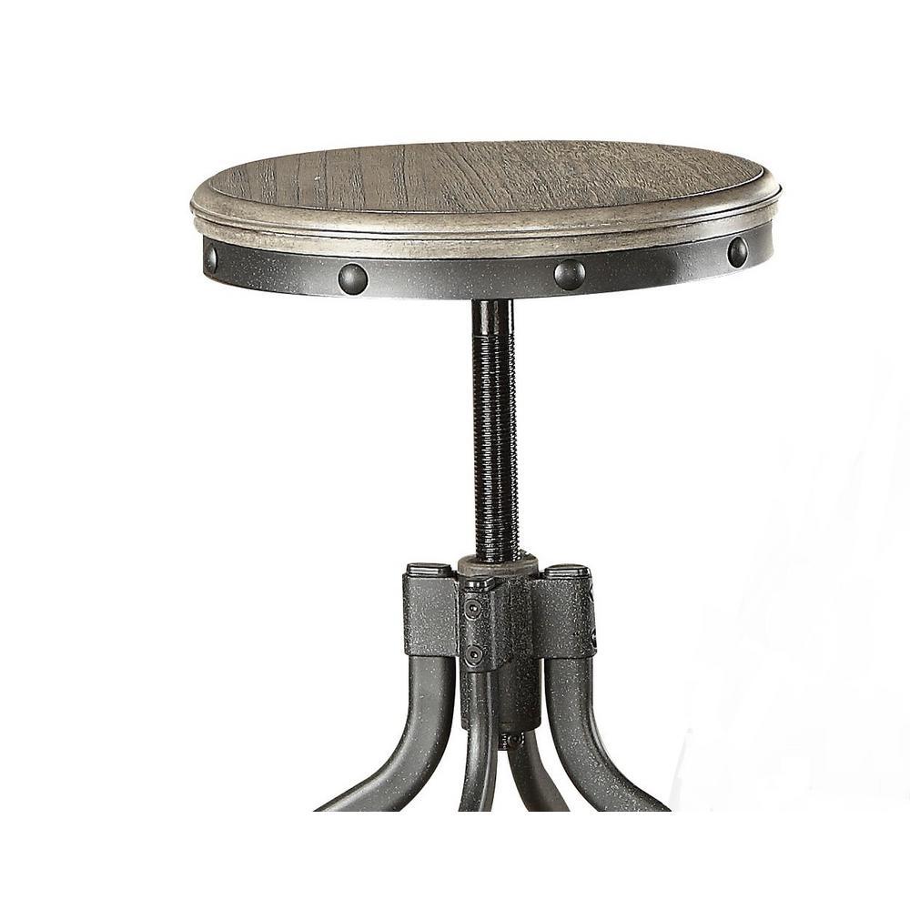 Fatima 3-Piece Pack Adjustable Gray Oak Counter Height Dining Set