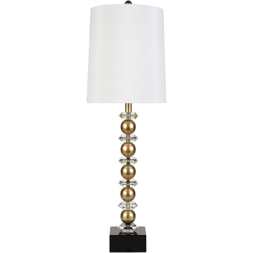 Goddard 35 in. Goldtone And Crystal Indoor Table Lamp