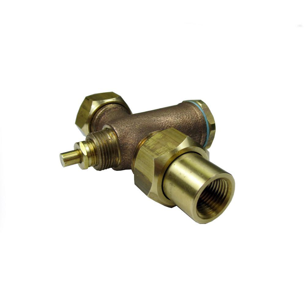 1/2 in. Brass Sweat Faucet Valve