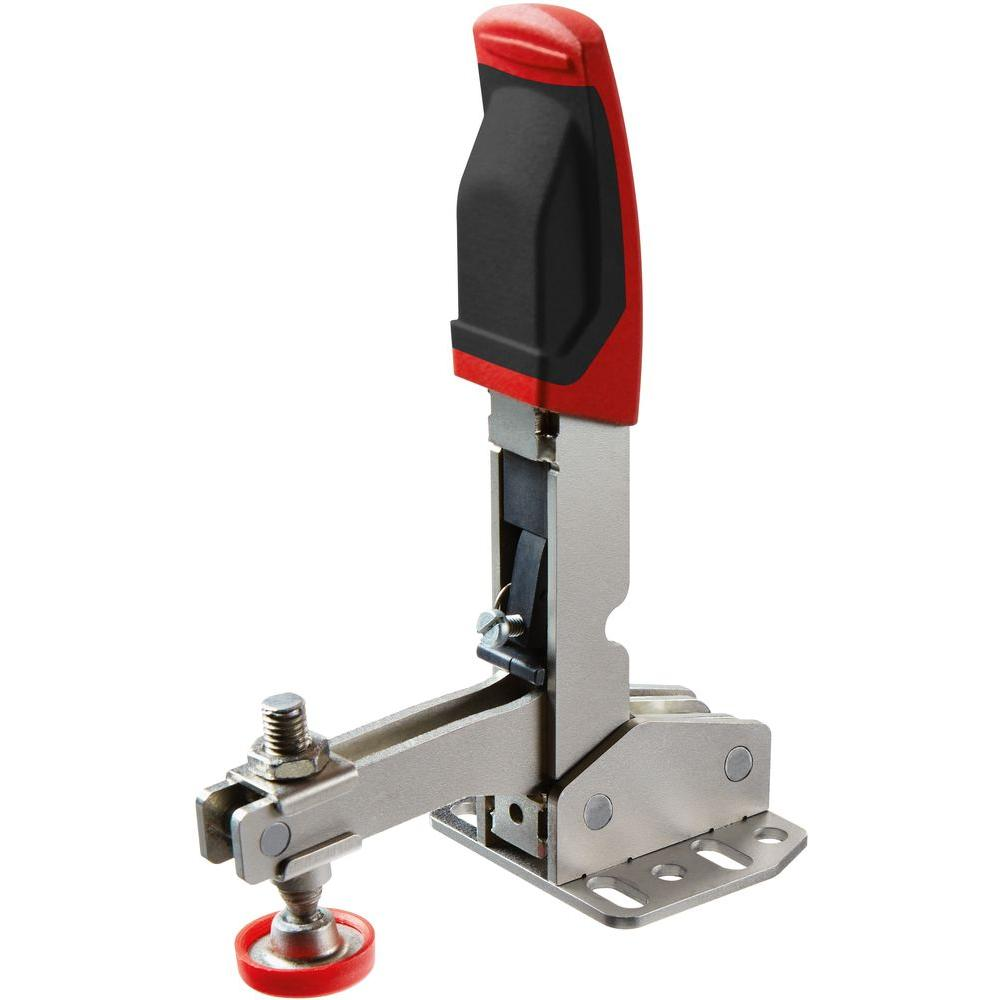 700 lb. Auto-Adjusting Toggle Clamp and Vertical Handle with Flanged Base