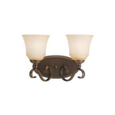 Parkview 2-Light Russet Bronze Bath Light with LED Bulbs