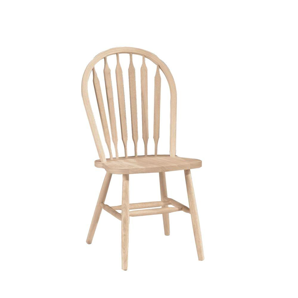 concepts unfinished wood arrow back windsor dining chair