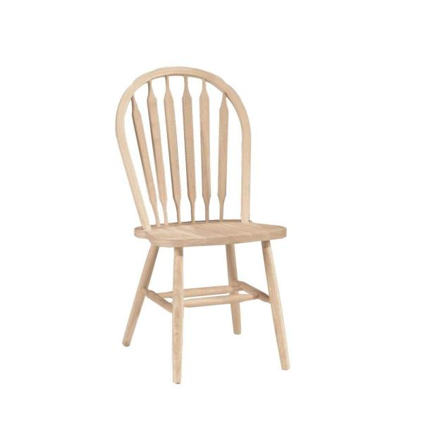 International Concepts Unfinished Wood Arrow Back Windsor Dining Chair 1C-113