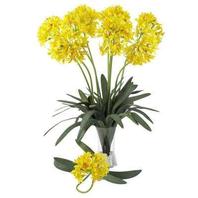 29 in. H Yellow African Lily Stem (Set of 12)