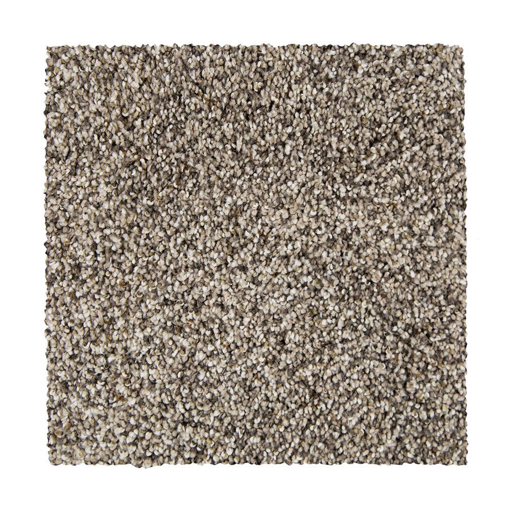 Maisie I - Color Minimal Grey Texture 12 ft. Carpet