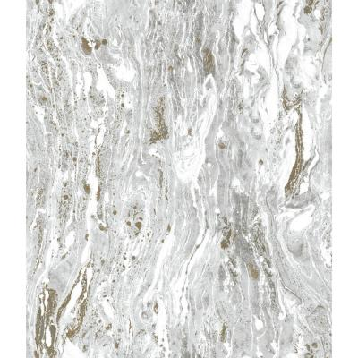 28.29 sq. ft. Marble Seas Peel and Stick Wallpaper