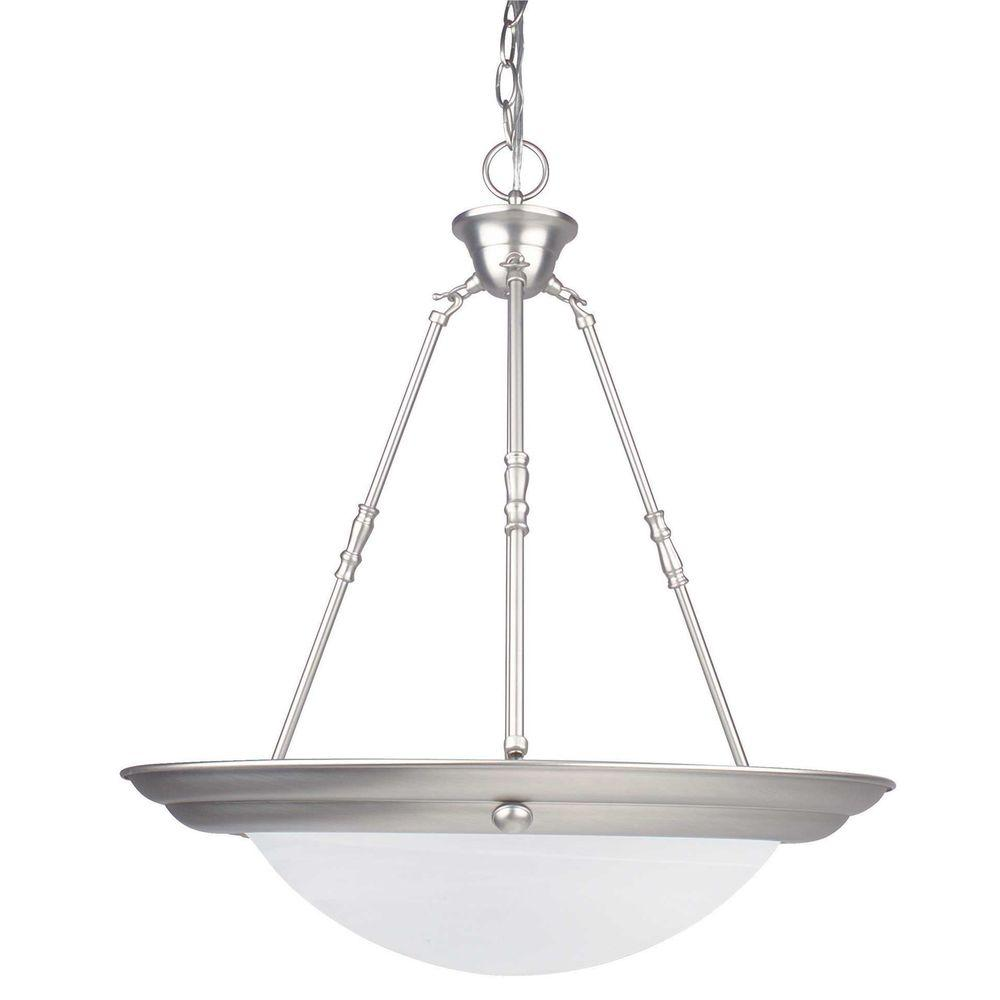 Luminance 3 Light Satin Nickel Bowl Pendant