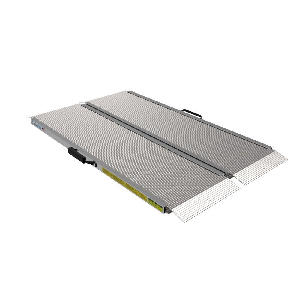 Traverse 4 ft. Aluminum Single Fold Edgeless Ramp