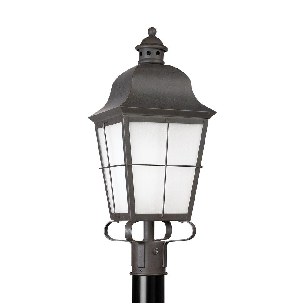 Chatham 1-Light Outdoor Oxidized Bronze Post Light