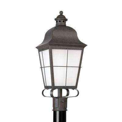 Chatham 1-Light Outdoor Oxidized Bronze Post Light with LED Bulb