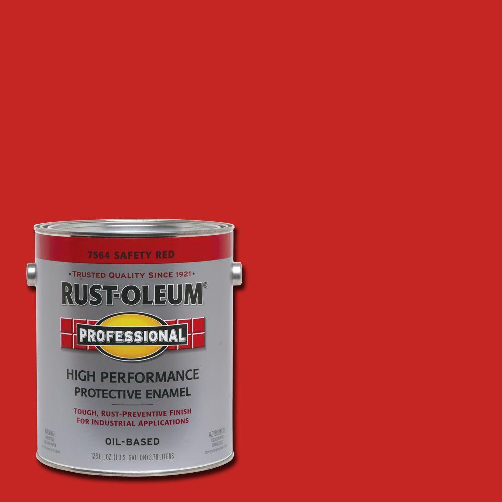 Rust Oleum Professional 1 Gal Safety Red Gloss Protective