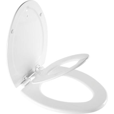 NextStep2 Children's Elongated Closed Front Toilet Seat in White