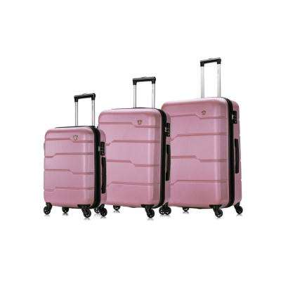 Rodez 20 in./24 in./28 in. Rose Gold Lightweight Hardside (3-Piece)