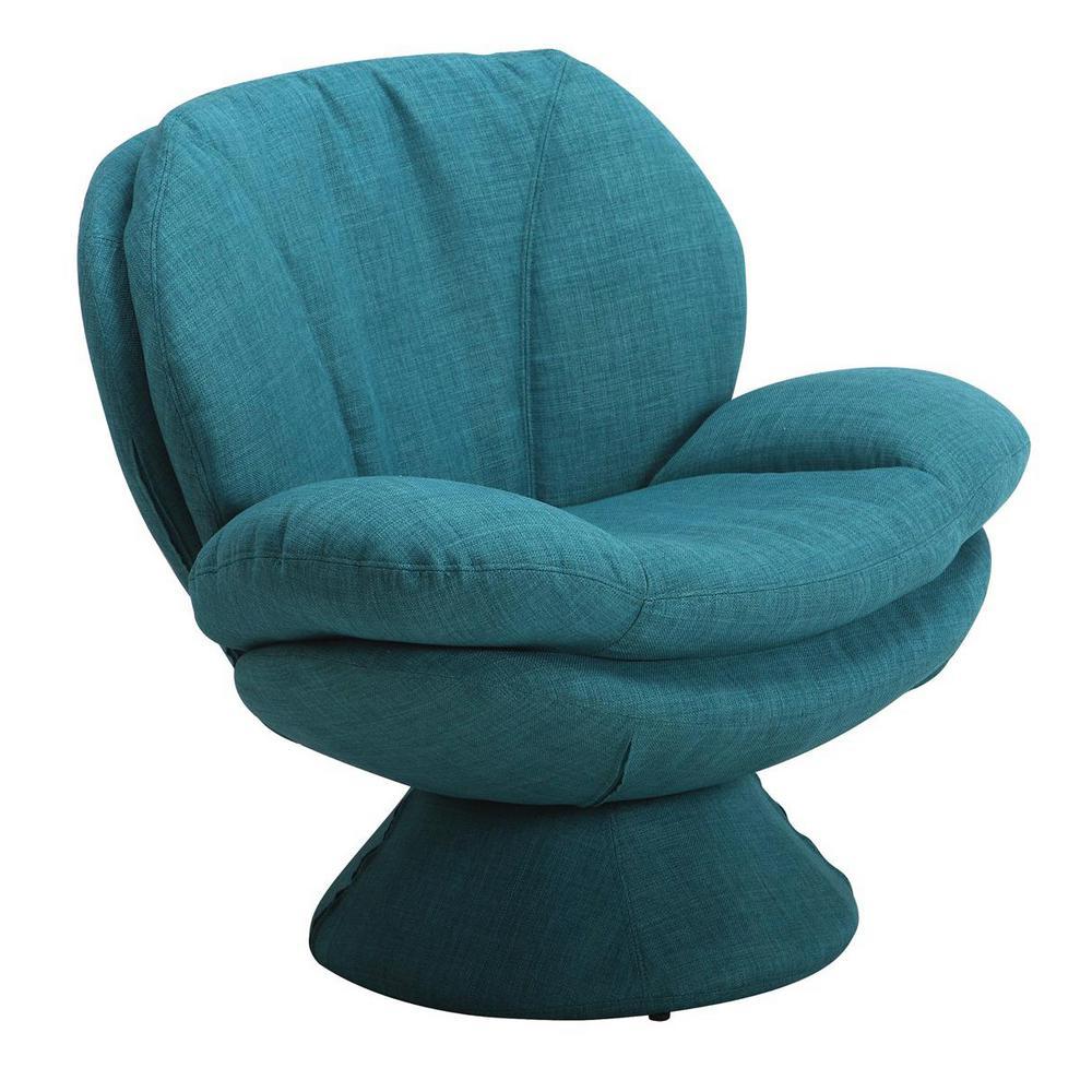 Mac Motion Comfort Chair Rio Turquoise Blue Fabric