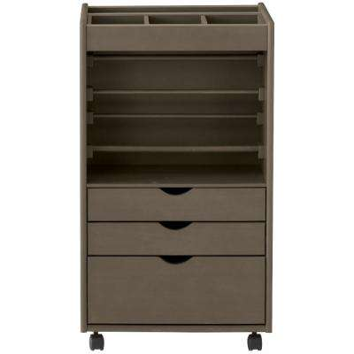 Stanton 20 in. W Wrapping Cart in Antique Grey