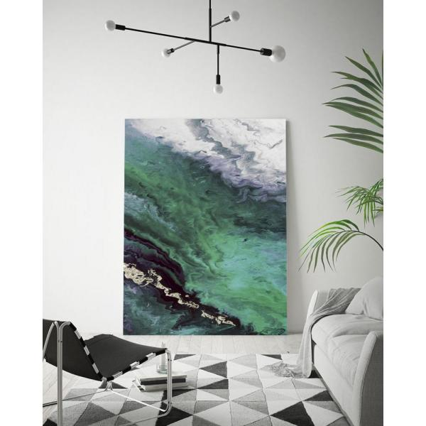Clicart 18 In X 24 In Green Shore Line From Above By Eva Watts Wall Art Piew081 1824mm The Home Depot