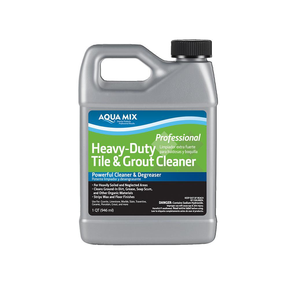 Aqua Mix 1 Qt. Heavy-Duty Tile and Grout Cleaner