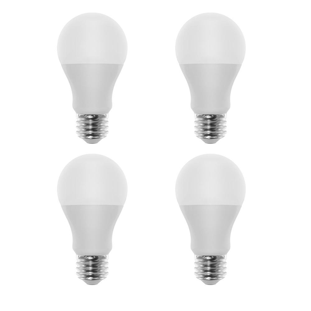 60-Watt Equivalent A19 LED Light Bulb Bright White (4-Pack)