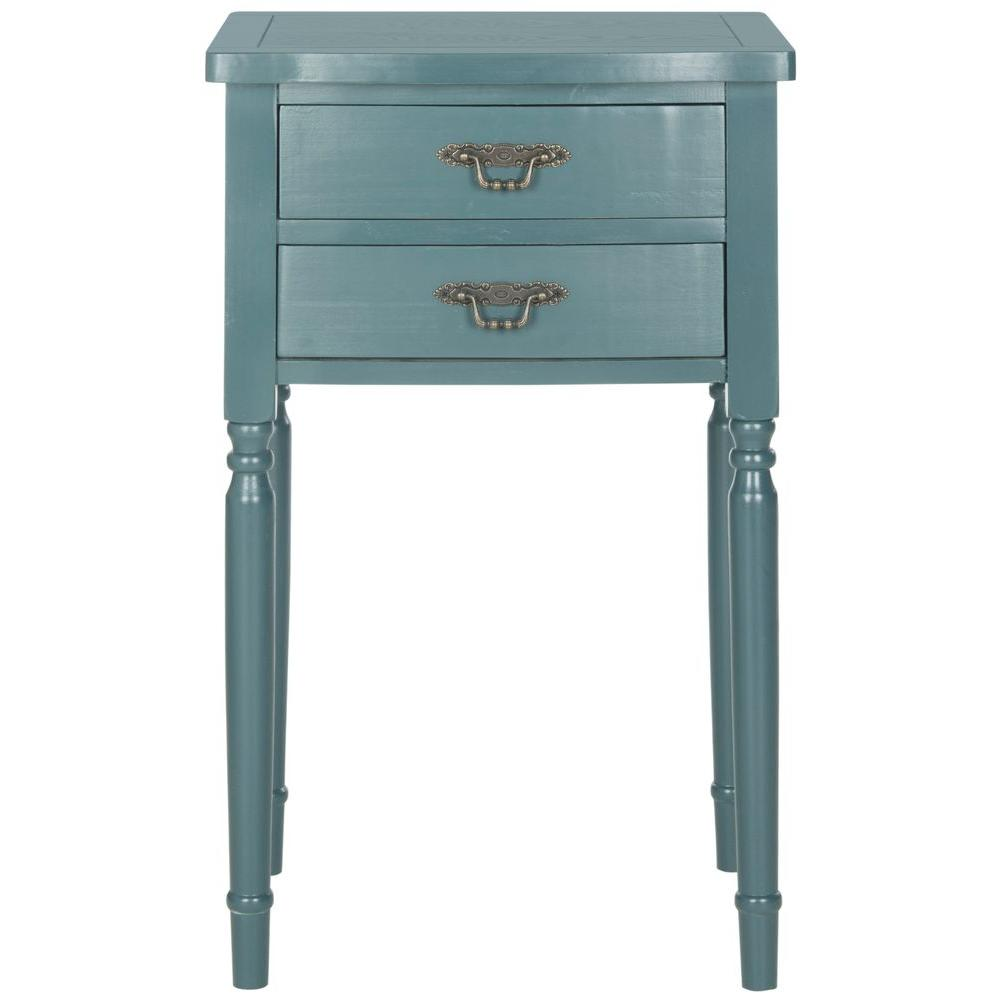 Safavieh Marilyn Teal Storage End Table-AMH6575D - The Home Depot