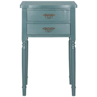 Marilyn Teal Storage End Table